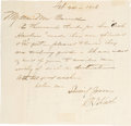 Movie/TV Memorabilia:Autographs and Signed Items, William S. Hart Autograph Letter Signed, Dated 1906. ...