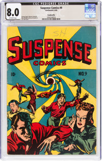 Suspense Comics #9 Cookeville Pedigree (Continental Magazines, 1945) CGC VF 8.0 Off-white pages