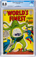 Silver Age (1956-1969):Superhero, World's Finest Comics #110 (DC, 1960) CGC VF 8.0 Off-white to white pages....
