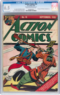 Golden Age (1938-1955):Superhero, Action Comics #16 (DC, 1939) CGC FN+ 6.5 Cream to off-white pages....