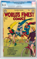 Golden Age (1938-1955):Superhero, World's Finest Comics #54 (DC, 1951) CGC VF+ 8.5 Off-white pages....