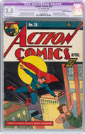 Golden Age (1938-1955):Superhero, Action Comics #23 (DC, 1940) CGC Apparent VG- 3.5 Slight (A-1) Off-white pages....