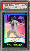 Baseball Cards:Singles (1970-Now), 2001 Bowman Chrome Albert Pujols (Refractor-Autograph) #340 PSA Mint 9 - #457/500. ...