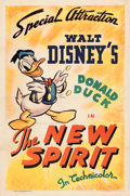 "Movie Posters:Animation, The New Spirit (RKO, 1942). Very Fine on Linen. One Sheet (27.25"" X 41"").. ..."