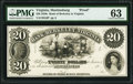 Obsoletes By State:Virginia, Martinsburg, VA- Bank of Berkeley in Virginia $20 18__ as G6 J-L BM15-15 PMG Choice Uncirculated 63.. ...