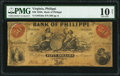 Obsoletes By State:Virginia, Philippi, VA- Bank of Philippi $50 Mar. 15, 185? G8a J-L BP40-30 PMG Very Good 10 Net.. ...