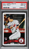Baseball Cards:Singles (1970-Now), 2011 Topps Update Mike Trout #US175 PSA Gem Mint 10. ...