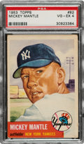 Baseball Cards:Singles (1950-1959), 1953 Topps Mickey Mantle #82 PSA VG-EX 4....