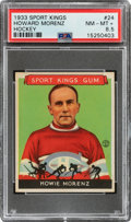 Baseball Cards:Singles (1930-1939), 1933 Sport Kings Howie Morenz #24 PSA NM-MT+ 8.5 - Pop Two, Only One Higher. ...