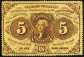 Fractional Currency:First Issue, Fr. 1228 5¢ First Issue Extremely Fine-About New.. ...