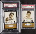 Baseball Cards:Singles (1970-Now), 2000 UD Yankees Legendary Pinstripes Autographs Ford & Rizzuto PSA-Graded Pair (2). ... (Total: 2 items)