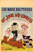"""Movie Posters:Comedy, A Day at the Races (MGM, R-1948). Very Fine+ on Paper. Belgian (14.25"""" X 21.25"""").. ..."""