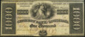 Obsoletes By State:Louisiana, New Orleans, LA- Citizens' Bank of Louisiana $1,000 18__ Remainder Choice About Uncirculated.. ...