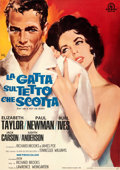 "Movie Posters:Drama, Cat on a Hot Tin Roof (MGM, R-1966). Very Fine- on Linen. Full-Bleed Italian 2 - Fogli (38.5"" X 54.5""). Silvano ""Nano"" Campe..."