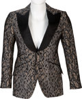 Music Memorabilia:Costumes, Chris Brown Worn Angelo Galasso Blazer....