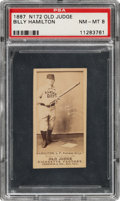 Baseball Cards:Singles (Pre-1930), 1887-90 N172 Old Judge Billy Hamilton (#210-1) PSA NM-MT 8 - Pop One, None Higher! ...