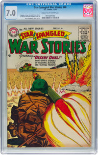 Star Spangled War Stories #40 (DC, 1955) CGC FN/VF 7.0 Cream to off-white pages