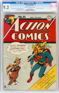 Golden Age (1938-1955):Superhero, Action Comics #95 (DC, 1946) CGC NM- 9.2 Cream to off-white pages....