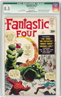Silver Age (1956-1969):Superhero, Fantastic Four #1 (Marvel, 1961) CGC Qualified VF+ 8.5 Off-white pages....