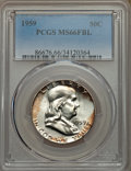 Franklin Half Dollars: , 1959 50C MS66 Full Bell Lines PCGS. PCGS Population: (86/2). NGC Census: (23/2). CDN: $1,150 Whsle. Bid for NGC/PCGS MS66. ...