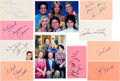 Movie/TV Memorabilia:Autographs and Signed Items, Three's Company Collection of Signatures....