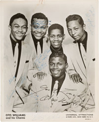 Otis Williams and the Charms Signed and Inscribed Photo