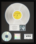 Music Memorabilia:Awards, The Rolling Stones Emotional Rescue RIAA R Hologram Platinum Sales Award Presented To Band's Label....