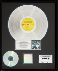The Rolling Stones Emotional Rescue RIAA R Hologram Platinum Sales Award Presented To Band's