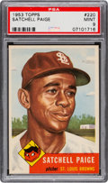 Baseball Cards:Singles (1950-1959), 1953 Topps Satchell Paige #220 PSA Mint 9 - None Higher....