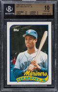 Baseball Cards:Singles (1970-Now), 1989 Topps Traded Ken Griffey #41T BGS Pristine 10....