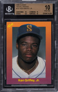 Baseball Cards:Singles (1970-Now), 1989 Classic Travel Update I (Orange) Ken Griffey Jr. #131 BGS Pristine 10....