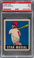 Baseball Cards:Singles (1940-1949), 1948 Leaf Stan Musial #4 PSA NM 7....