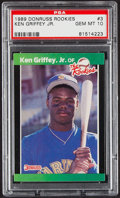 Baseball Cards:Singles (1970-Now), 1989 Donruss Rookie(s) Ken Griffey Jr. #3 PSA Gem Mint 10....