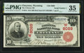 Cheyenne, WY - $10 1902 Red Seal Fr. 614 The Citizens National Bank Ch. # (W)8089 PMG Choice Very Fine