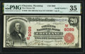 National Bank Notes:Wyoming, Cheyenne, WY - $20 1902 Red Seal Fr. 640 The Citizens National Bank Ch. # (W)8089 PMG Choice Very Fine 35.. ...