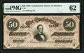 Confederate Notes:1864 Issues, T66 $50 1864 PF-5 Cr. 498 PMG Uncirculated 62.. ...