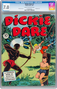 Dickie Dare #1 (Eastern Color, 1941) CGC FN/VF 7.0 Cream to off-white pages