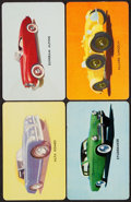 "Non-Sport Cards:Sets, 1955 D72 Mother's Cookies ""Cars"" Complete Set (42)...."
