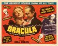 """Movie Posters:Horror, Dracula (Realart, R-1951). Fine+ on Paper. Half Sheet (22"""" X 28"""") Style A. . ..."""