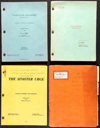 """Ed Wood Scripts (1955-1960). Fine/Very Fine. Annotated and Signed Original Scripts (4) (Multiple Pages, 9"""" X 11.5&q..."""