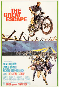 "The Great Escape (United Artists, 1963). Very Fine on Linen. International Concept One Sheet (26.75"" X 39.5"")..."