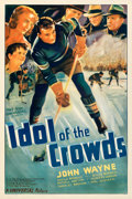 """Movie Posters:Sports, Idol of the Crowds (Universal, 1937). Very Fine on Linen. One Sheet (27"""" X 41"""").. ..."""