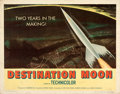 "Movie Posters:Science Fiction, Destination Moon (Pathé, 1950). Rolled, Fine-. Half Sheet (22"" X 28"").. ..."