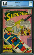 Silver Age (1956-1969):Superhero, Superman #149 (DC, 1961) CGC FN- 5.5 Cream to off-white pages.