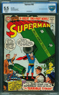 Silver Age (1956-1969):Superhero, Superman #182 - CBCS CERTIFIED (DC, 1966) CGC FN- 5.5 Off-white to white pages.