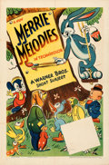 """Movie Posters:Animation, Merrie Melodies (Warner Bros., 1941). Folded, Fine/Very Fine. Stock One Sheet (27"""" X 41""""). . ..."""