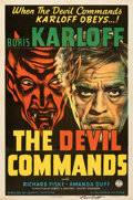 """Movie Posters, The Devil Commands (Columbia, 1941). Folded, Very Fine-. Autographed One Sheet (27"""" X 41"""").. ..."""