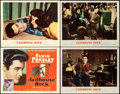 """Movie Posters:Elvis Presley, Jailhouse Rock (MGM, 1957). Overall: Very Fine. Title Lobby Card & Lobby Cards (3) (11"""" X 14""""). Bradshaw Crandell Title Card... (Total: 4 Items)"""