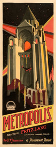 "Movie Posters:Science Fiction, Metropolis (Paramount/UFA, 1927). Very Good/Fine on Paper. Insert (14"" X 36"").. ..."