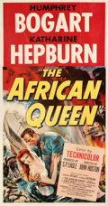 """Movie Posters:Adventure, The African Queen (United Artists, 1952). Fine/Very Fine on Linen. Three Sheet (41.25"""" X 78.75"""").. ..."""